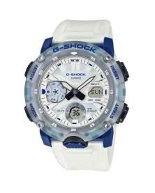 G-Shock Carbon Core Hidden Coast Traslucido Blanco y Azul de Hombre GA-2000HC-7A