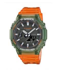G-Shock Carbon Octagon Hidden Coast Traslucido Verde y Naranja de Hombre GA-2100HC-4A
